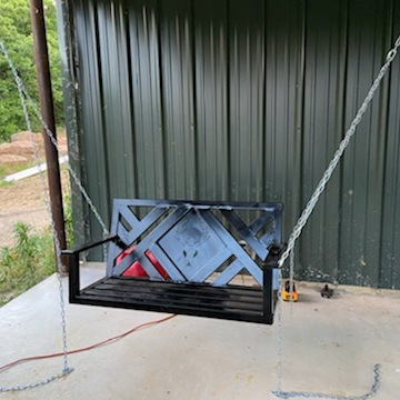 "Porch Swing Custom Welding ""Legend Custom Welding and Fence"""